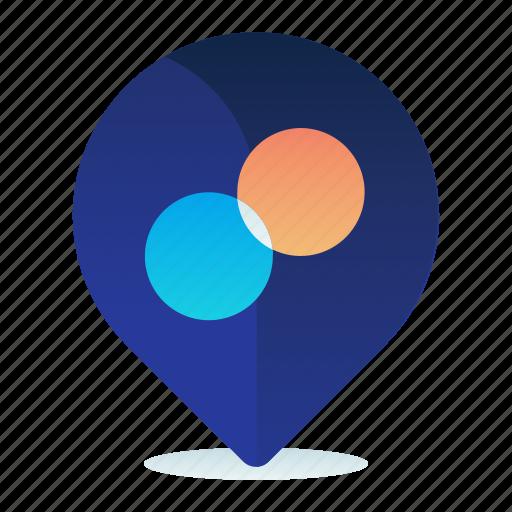 exchange, location, map, money, navigation icon