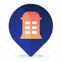 booth, destination, location, map, navigation, phone icon