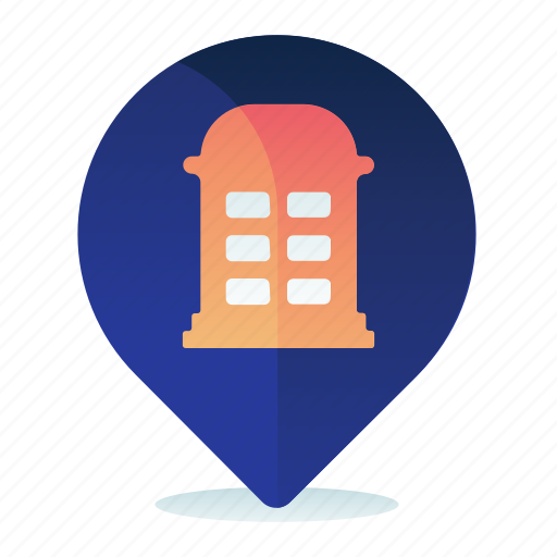 Booth, destination, location, map, navigation, phone icon - Download on Iconfinder