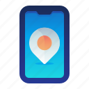 destination, location, map, navigation, phone icon