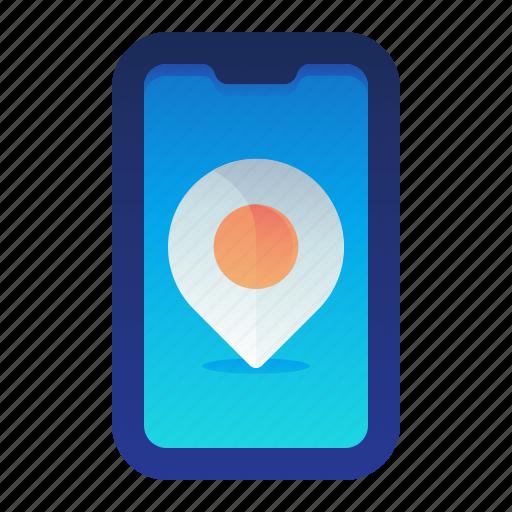 Destination, location, map, navigation, phone icon - Download on Iconfinder