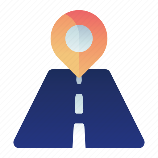 direction, location, map, navigation, road icon