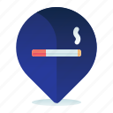 area, destination, location, map, navigation, smoking