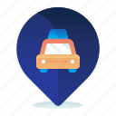 destination, location, map, navigation, taxi icon