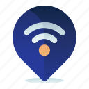 internet, location, navigation, wifi, wireless icon