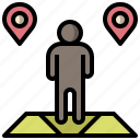 finish, gps, map, pin, position, route, start icon