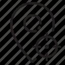 location, marker, navigator, pointer, target icon
