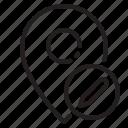 location, marker, navigator, pointer, writting icon