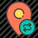 exchange, location, marker, navigator, pointer icon