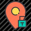 location, lock, marker, navigator, pointer