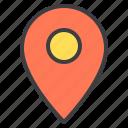 location, marker, navigator, pointer icon