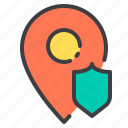 marker, protect, pointer, navigator, location icon