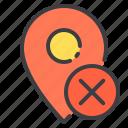 location, marker, navigator, pointer, remove icon