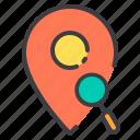 location, marker, navigator, pointer, search icon