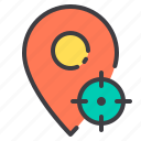 location, marker, navigator, pointer, target icon