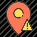 location, marker, navigator, pointer, warning