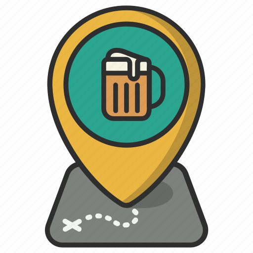 beer, drinks, location, map, pin, pointer, pub icon