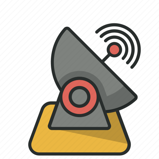 communication, dish, dish antenna, parabolic antenna, satellite, space, sputnik antenna icon