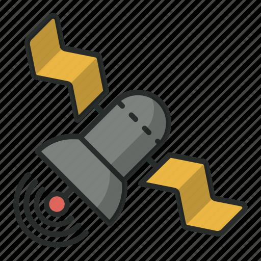 communication, connection, cosmos, satellite, space, sputnik, technology icon