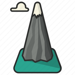 cloud, height, mountain, place, position icon