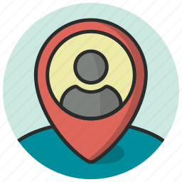 geolocalization, man in locator, man location, map pin, user location icon