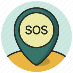 gps, help, location, map, navigation, pin, sos icon