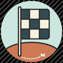 destination, finish, flag, location, map, navigation, pin icon