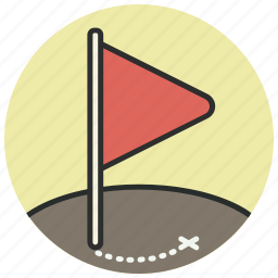 direction, flag, location, map, marker, navigation, pin icon