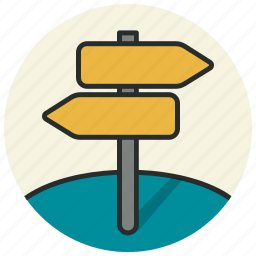 directions, location, navigation, place, signs, street, tourism icon
