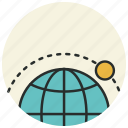 ecuator, location, moon, orbit, satellite, sputnik icon