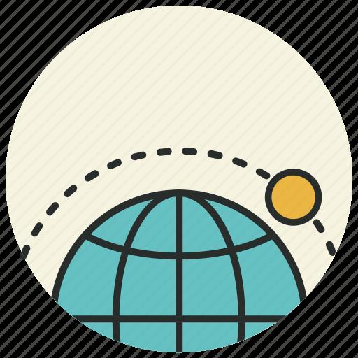 ecuator, location, moon, orbit, satellite, sputnik icon