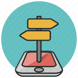 direction, location, map, marker, navigation, phone, pin icon