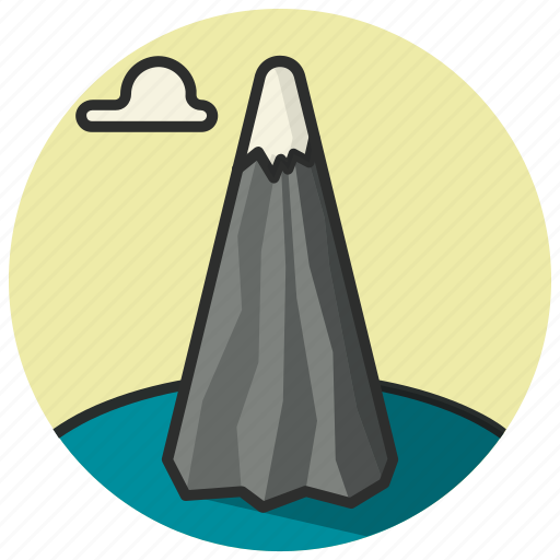 cloud, height, location, mountain, place, position icon