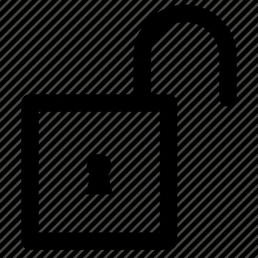 keyhole, lock, locked, padlock, protected, security, unlock icon