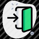enter, door, web, user, internet, password, business icon