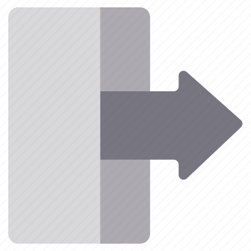access, account, arrow, login, logout, monochrome, sign out icon