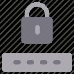 access, account, login, monochrome, password, sign in icon