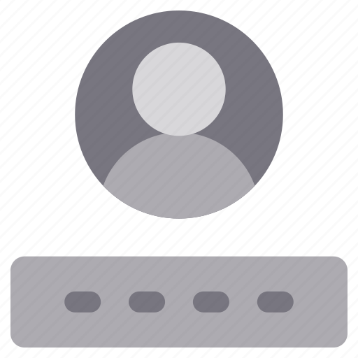 access, account, avatar, login, monochrome, password, sign in icon