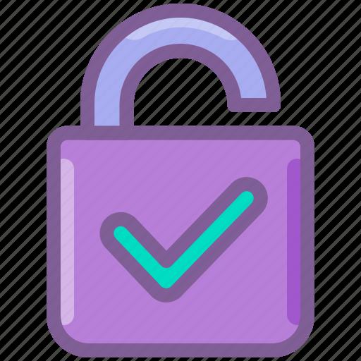 account, check, login, password, private, unlock icon