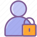 account, lock, login, password, user icon