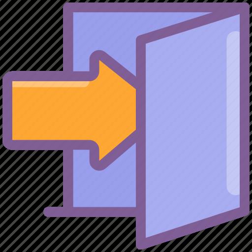 account, door, login, profile, sign in, user icon