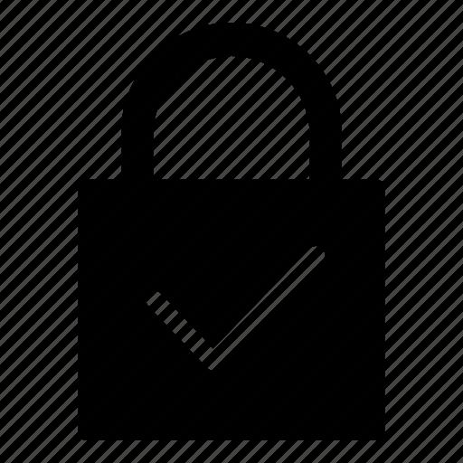 account, check, lock, login, password, profile, user icon