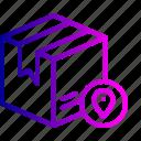 box, delivery, logistic, navigation, package, parcel, track