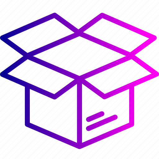 box, delivery, logistic, open, package, parcel, shipping icon