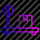 boxes, luggage, machine, measure, parcel, transport, weghit