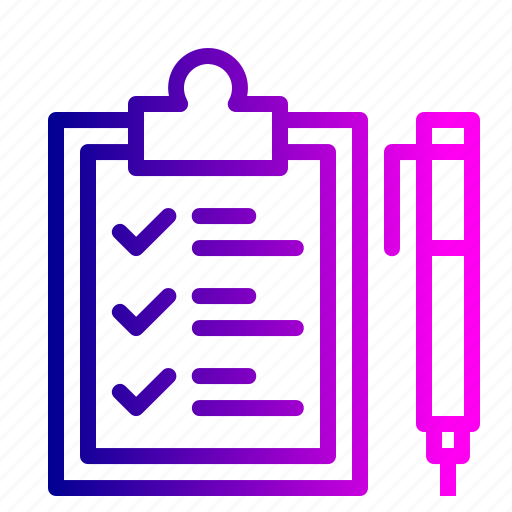 clipboard, delivery, identify, logistic, pen, sign, tick icon