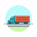 container, logistic, truck icon
