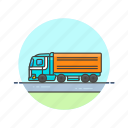 cargo, container, delivery, logistic, package, transport, truck, vehicle icon