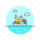 container, logistic, ship icon