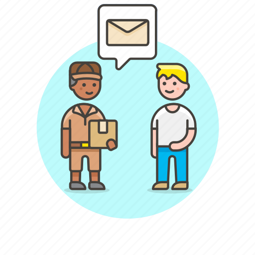 delivery, logistic, mail, package, receive, send, warehouse, worker icon